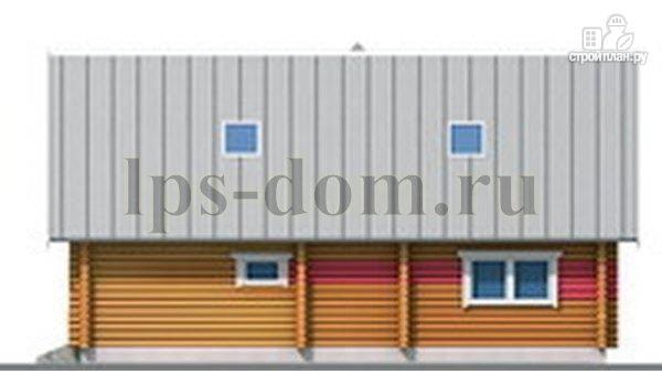Фото 10: проект бревенчатый дом с сауной и вторым светом в гостиной