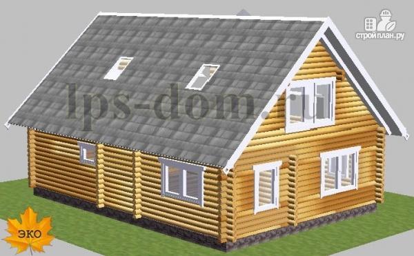 Фото 4: проект бревенчатый дом с сауной и вторым светом в гостиной