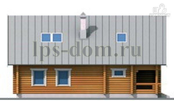 Фото 9: проект бревенчатый дом с сауной и вторым светом в гостиной