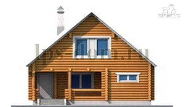 Фото 12: проект бревенчатый дом с сауной и вторым светом в гостиной