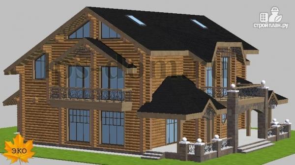 Фото 3: проект трёхэтажный бревенчаиый дом с баней и бассейном