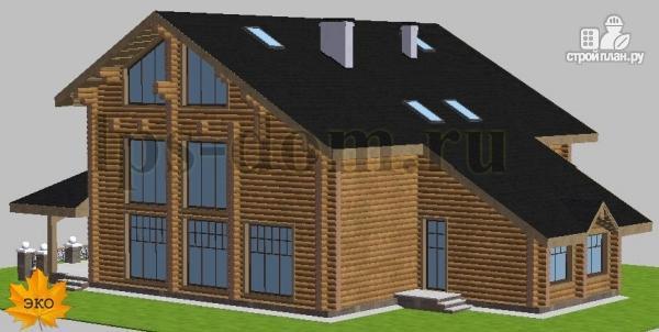 Фото 5: проект трёхэтажный бревенчаиый дом с баней и бассейном