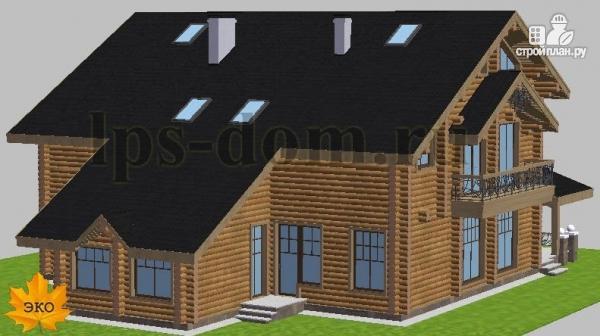 Фото 4: проект трёхэтажный бревенчаиый дом с баней и бассейном