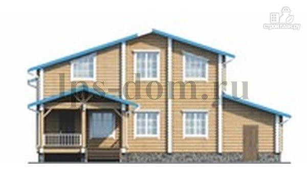 Фото 4: проект бревенчатый дом с двухсветной гостиной