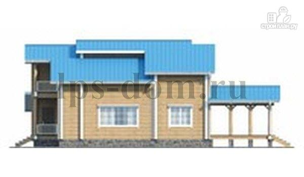Фото 3: проект бревенчатый дом с двухсветной гостиной