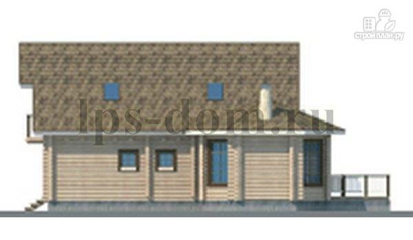 Фото 3: проект дом из бревна с верандой-столовой