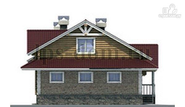 Фото 8: проект бревенчатый дом с гаражом и камином