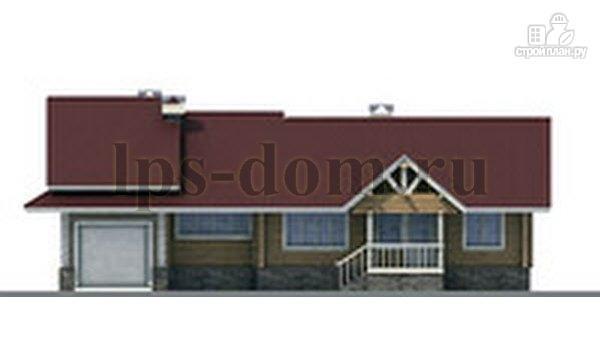 Фото 6: проект бревенчатый дом с гаражом и камином