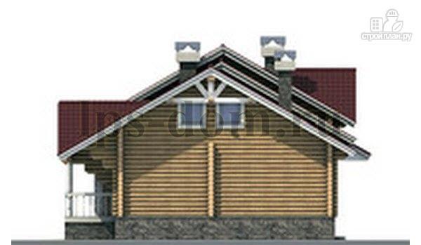 Фото 9: проект бревенчатый дом с гаражом и камином
