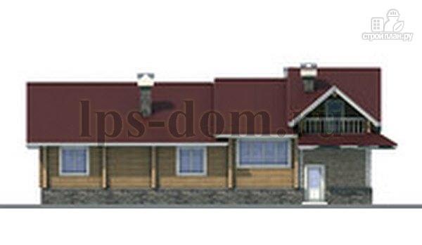 Фото 7: проект бревенчатый дом с гаражом и камином