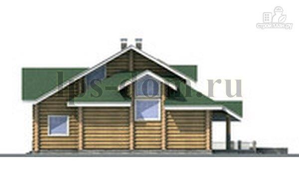 Фото 9: проект дом из бревна с большой террасой и вторым светом в гостиной