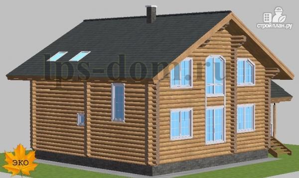 Фото 3: проект дом из бревна с цокольным этажом