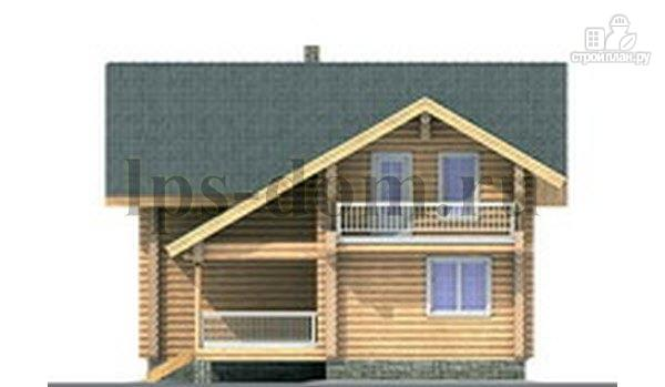 Фото 8: проект дом из бревна с цокольным этажом