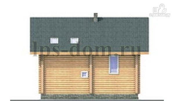 Фото 9: проект дом из бревна с цокольным этажом