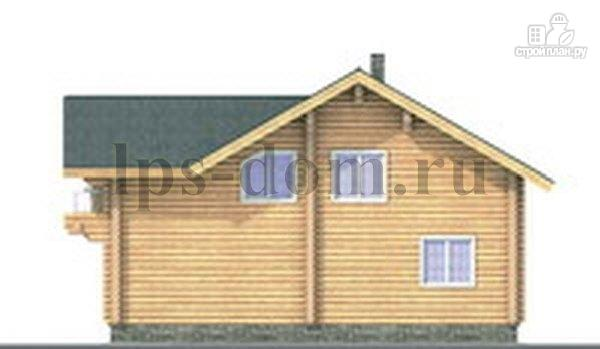 Фото 7: проект дом из бревна с цокольным этажом