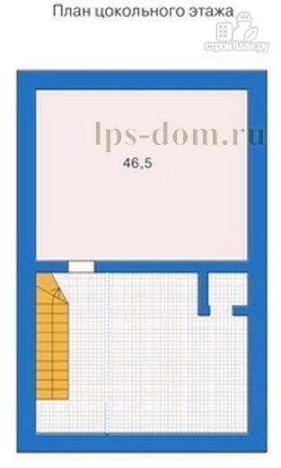 Фото 10: проект дом из бревна с цокольным этажом