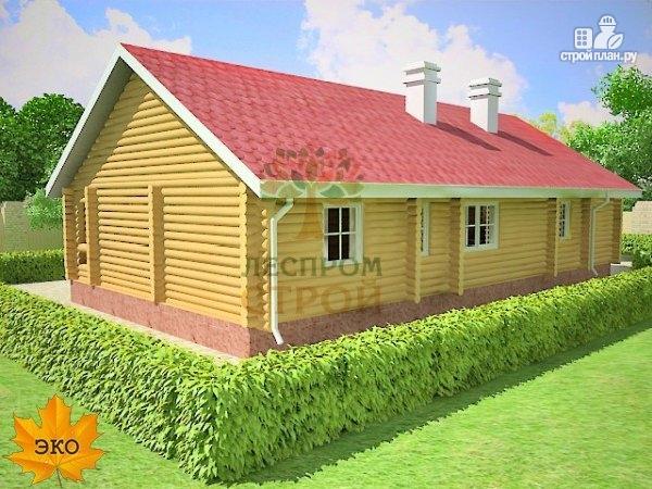 Фото 2: проект бревенчатый дом 9х16 с сауной