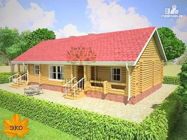 Фото 3: проект бревенчатый дом 9х16 с сауной
