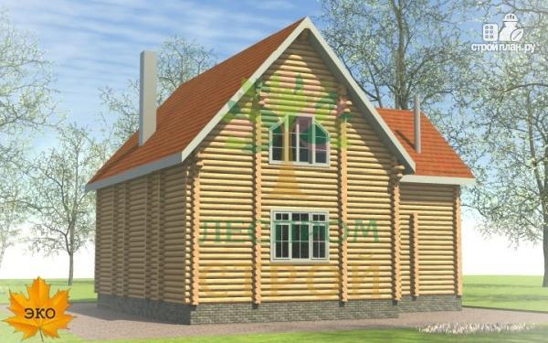 Фото 4: проект бревенчатый дом 9х11