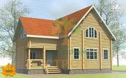 Проект бревенчатый дом 9х11