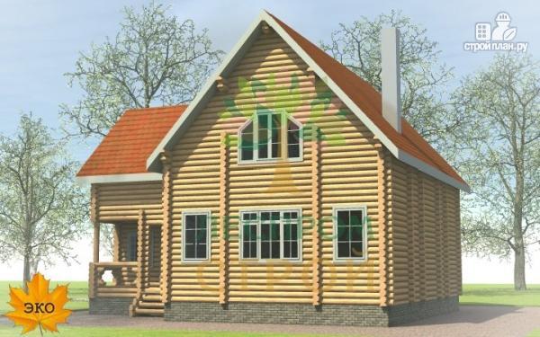 Фото 2: проект бревенчатый дом 9х11