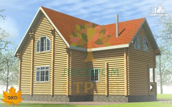 Фото 3: проект бревенчатый дом 9х11