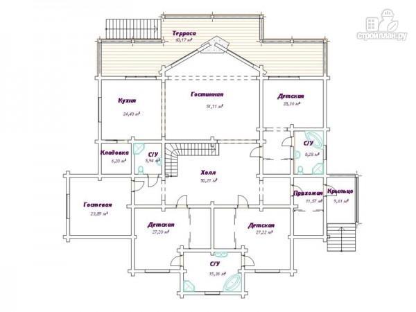 Фото 3: проект трёхэтажный дом с сауной