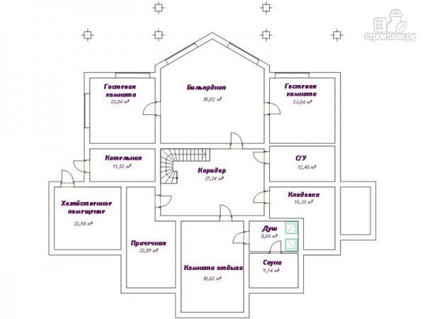 Фото 2: проект трёхэтажный дом с сауной