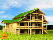 Фото: трёхэтажный дом с сауной