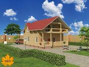 Проект дом 9х11 из бревна