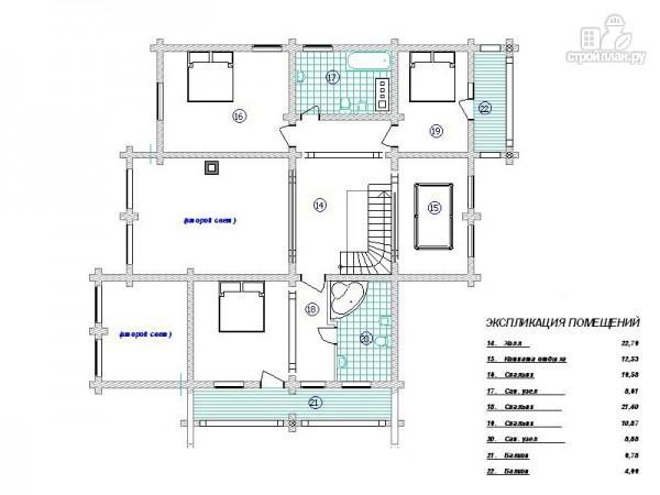 Фото 3: проект бревенчатый дом с сауной