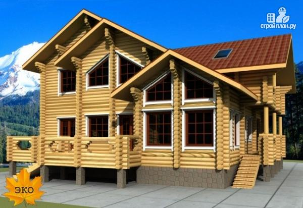 Фото: проект бревенчатый дом с сауной