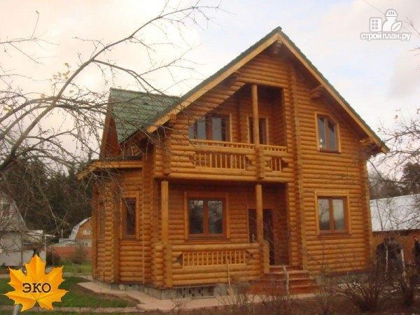 Фото 2: проект дом из бревна с печью
