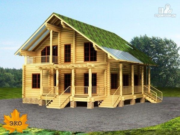 Фото: проект дом из бревна со вторым светом
