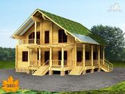 Проект дом из бревна со вторым светом