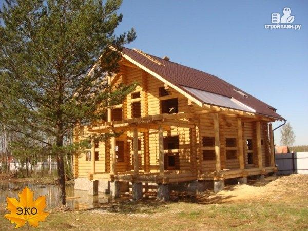 Фото 2: проект дом из бревна со вторым светом