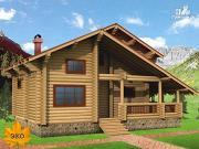 Проект бревенчатый дом с парной и вторым светом