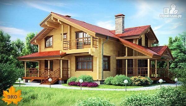 Фото: проект дом из бруса с сауной