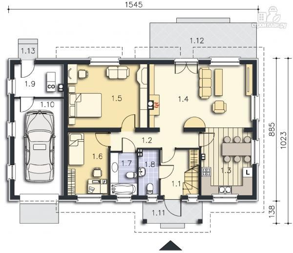 Фото 9: проект дом с террасой на втором этаже