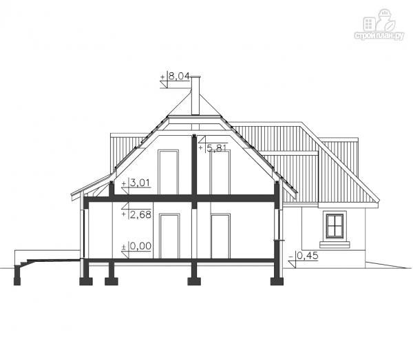 Фото 11: проект деревянный дом с гаражом на две машины