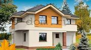 Фото: двухэтажный загородный дом с гаражом