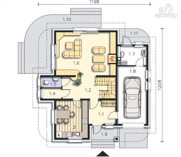Фото 9: проект двухэтажный загородный дом с гаражом