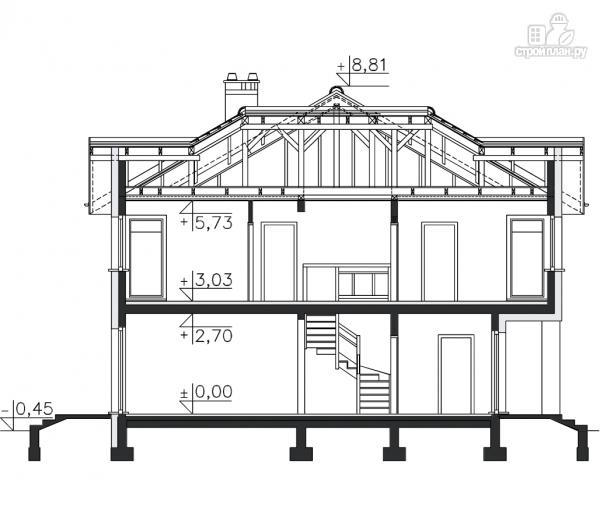 Фото 11: проект двухэтажный загородный дом с гаражом
