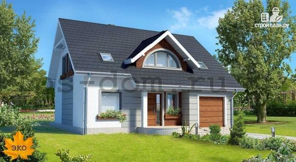 Фото: проект загородный брусовой дом с гаражом