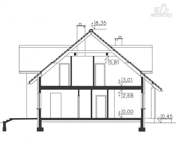 Фото 11: проект загородный брусовой дом с гаражом
