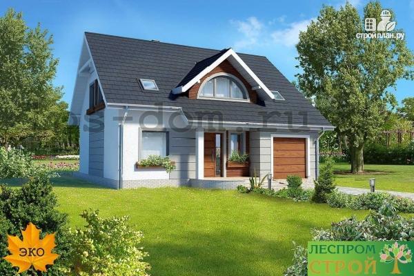 Фото 3: проект загородный брусовой дом с гаражом