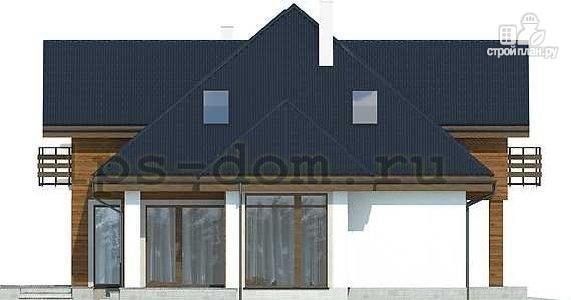 Фото 6: проект деревянный дом совмещённый с гаражом