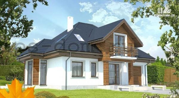 Фото: проект деревянный дом совмещённый с гаражом