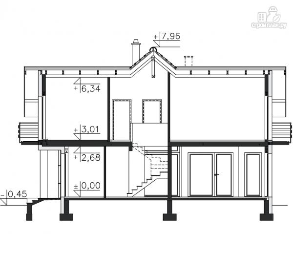 Фото 10: проект деревянный дом совмещённый с гаражом