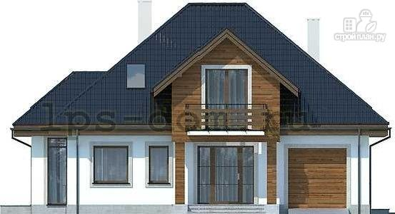 Фото 4: проект деревянный дом совмещённый с гаражом